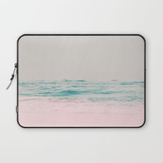 Vintage Pastel Ocean Waves Laptop Sleeve