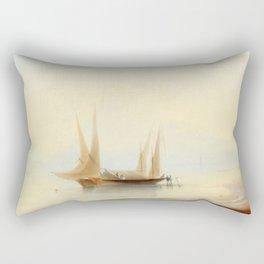 Ivan Aivazovsky - Barge at Sea Shore Rectangular Pillow