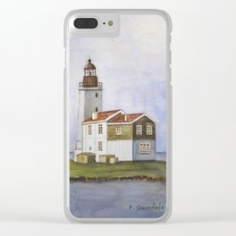 Noord Holland Lighthouse Clear iPhone Case