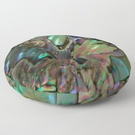 Oil Slick Abalone Mother Of Pearl Floor Pillow