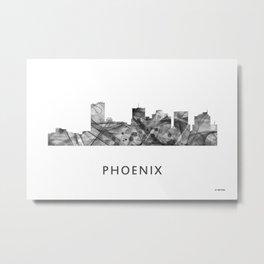 Phoenix, Arizona Skyline WB BW Metal Print