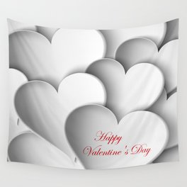 background paper hearts Wall Tapestry