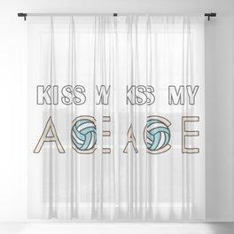Kiss my ace Sheer Curtain