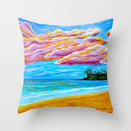Pāʻia Bay Sunrise Throw Pillow