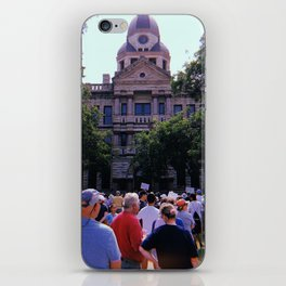 Protest in front of the Denton Courthouse iPhone Skin