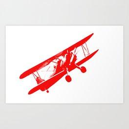 vintage aeroplane decoration Art Print