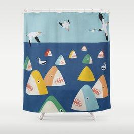 Shark Park Shower Curtain