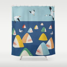 Shark Park Shower Curtain