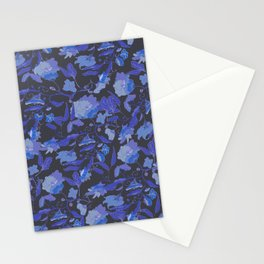 Flowers and leaves garden pattern Stationery Cards