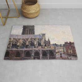 Camille Pissarro - The Saint-jacques Church In Dieppe - Digital Remastered Edition Rug