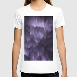 Purple and black. Abstract. T-shirt