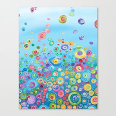 Inner Circle - Blue Canvas Print