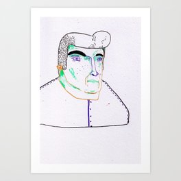 when georges takes too many glasses of water. Art Print