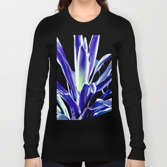 Indigo Blue Flower Long Sleeve T-shirt