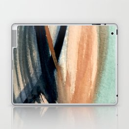 Waves - a pretty minimal watercolor abstract in blues, pinks, and browns Laptop & iPad Skin