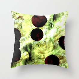 Yellow green watercolor background Throw Pillow
