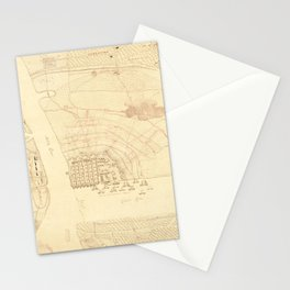 Vintage Map of Charleston SC (1780) Stationery Cards