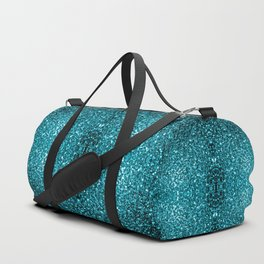 Beautiful Aqua blue glitter sparkles Duffle Bag