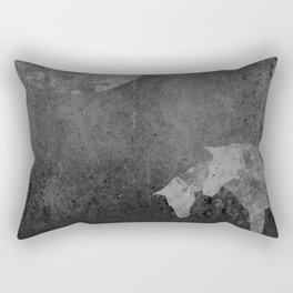 Moon with Horses in Grays Rectangular Pillow