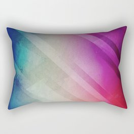 Vivid - Colorful Geometric Mountains Texture Pattern Rectangular Pillow