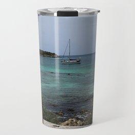 Sailboat in a Window Travel Mug