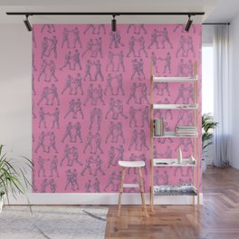 Round One BUBBLEGUM PINK / Vintage boxers Wall Mural