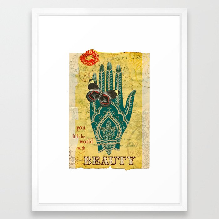 You Fill the World With Beauty Framed Art Print