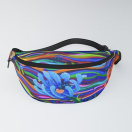 The Flowers & The Bees oil on canvas by Chantal Elena Mitchell Fanny Pack