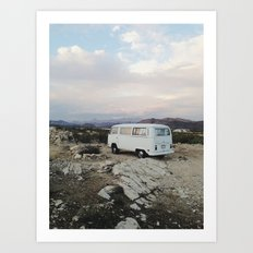 Desert Camper Bus Art Print