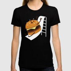 Slider Burger Womens Fitted Tee Black MEDIUM