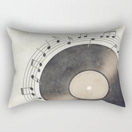 Vinyl Music Collection Rectangular Pillow