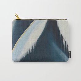 Daydream: a pretty, minimal, abstract, mixed-media piece in blue and gold by Alyssa Hamilton Art Carry-All Pouch