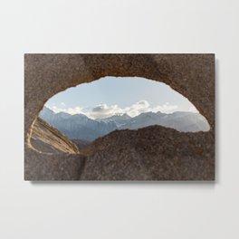 The Looking Rock Metal Print