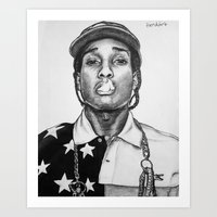 Art Print featuring A$AP ROCKY by Tiendank