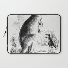 Lord Derbys scaly-tailed squirrel from Voyages et Aventures Dans lAfrique equatoriale (1863) Laptop Sleeve