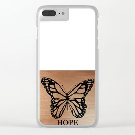Butterfly of Hope copper Clear iPhone Case