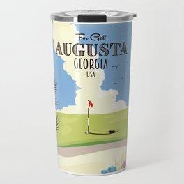 Augusta Georgia Golf Poster Travel Mug