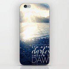 Always Darkest Before Dawn iPhone & iPod Skin