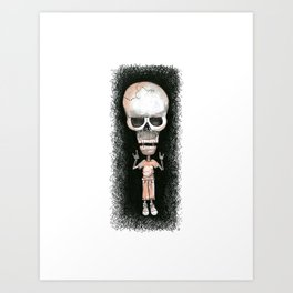 Metal Skully Art Print