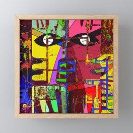 modern geometric eyes abstract art Framed Mini Art Print