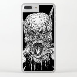 Death Horror Skull Clear iPhone Case
