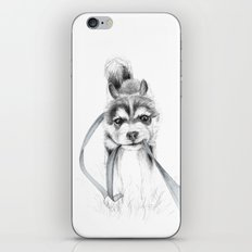 The Perseverance of a Puppy :: Siberian Husky iPhone & iPod Skin