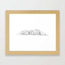 El Paso Skyline Drawing Framed Art Print