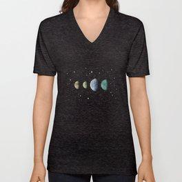 Moons of Jupiter Unisex V-Neck