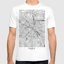 Paris White Map T-shirt