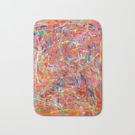 Orange Expression Bath Mat