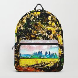 Golden Daffodil Field Backpack