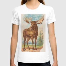 Vintage Illustration of a Moose (1890) T-shirt