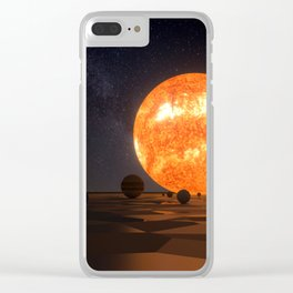 Solar System Art Clear iPhone Case