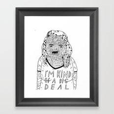 BIG DEAL Framed Art Print
